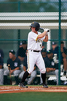 GCL Pirates second baseman Matt Morrow (55) at bat during the first game of a doubleheader against the GCL Yankees East on July 31, 2018 at Pirate City Complex in Bradenton, Florida.  GCL Yankees East defeated GCL Pirates 2-0.  (Mike Janes/Four Seam Images)