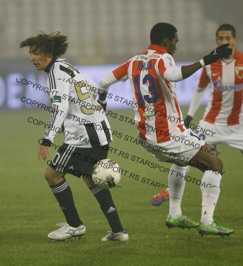 Markovic Lazar, Lee Addy, Sport, Fudbal, Crvena Zvezda  Partizan, 26.11.2011 (photo: Pedja Milosavljevic / thepedja@gmail.com / +381641260959)