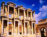The Library of Celsus (135 AD), Ephesus Greek Ruins, Huge Ionian and Roman City founded 11th Century by the Amazons, Aegean Sea, Turkey