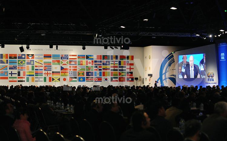 Fussball International  58. FIFA Kongress 2008   30.05.2008 Flaggen der Mitgliedsverbaende der FIFA
