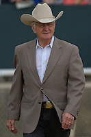 "Trainer of #4 ""Run Wild"" William ""Jinks"" Fires. Run Wild finished 5th out of a field of 9 horses."