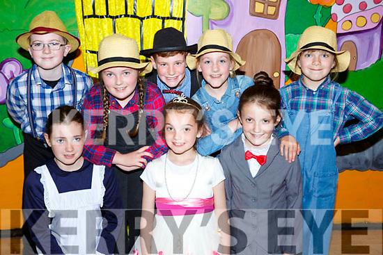 Performing in The Wizard of Oz in Castleisland on Sunday front row Michelle McSweeney, Jasmine Moran-Tobin, Brid Fitzgerald, Back row: Callum Egan, Grainne O'Shea, Tomas Jones, Alanna O'Mahony and Grainne Quirke