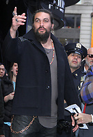NEW YORK, NY - December 03: Jason Momoa seen at Good Morning America promoting his new movie Aquaman on December 03, 2018 in New York City. <br /> CAP/MPI/RW<br /> &copy;RW/MPI/Capital Pictures