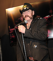 LAS VEGAS, NV - January 8: Lemmy Kilmister unveils Motorheadphones at the Consumer Electronics Show on January 8, 2013 in Las Vegas, Nevada. © Kabik/ Starlitepics / Mediapunch Inc /NortePhoto©