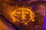 Face with Earings Petroglyph, Three Rivers Petroglyph Site, New Mexico