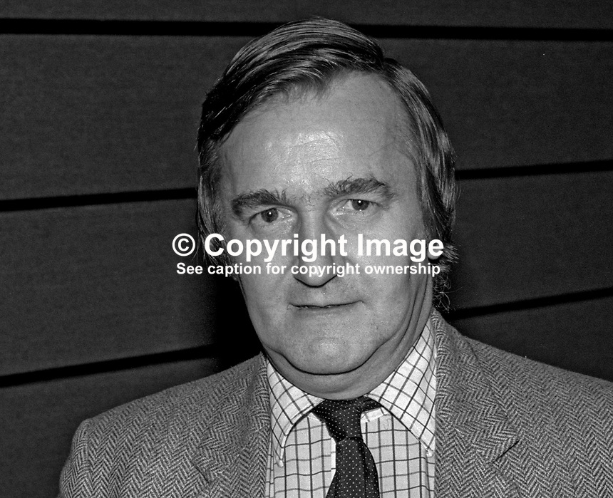 Ted Knight, Labour Party leader, Lambeth Council, London, UK, annual conference, Blackpool. 19840174TK2.<br />