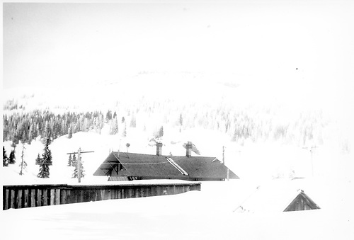 Cumbres station in winter<br /> D&amp;RGW  Cumbres, CO