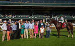 October 05 2018 : Promises Fulfilled with Luis Saez in the winners circle after the Phoenix Stakes at Keeneland Racecourse on October 05, 2018 in Lexington, Kentucky. Evers/ESW/CSM