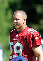 Jul 30, 2008; Flagstaff, AZ, USA; Arizona Cardinals linebacker Chris Harrington during training camp on the campus of Northern Arizona University. Mandatory Credit: Mark J. Rebilas-
