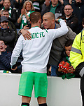 Leigh Griffiths and Jim Lauchlan after the match