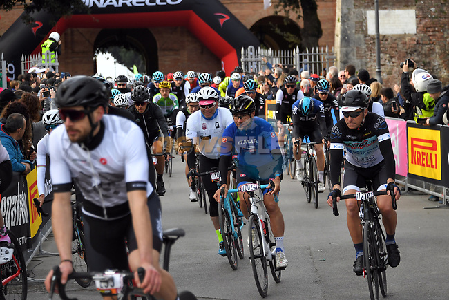 5,000 participants of the Gran Fondo Strade Bianche 2019 crossed the start line in the fantastic location of the Fortezza Medicea in Siena running 133km from Siena to Siena, held over the white gravel roads of Tuscany, Italy. 10th March 2019.<br /> Picture: LaPresse/Gian Matteo D'Alberto | Cyclefile<br /> <br /> <br /> All photos usage must carry mandatory copyright credit (© Cyclefile | LaPresse/Gian Matteo D'Alberto)