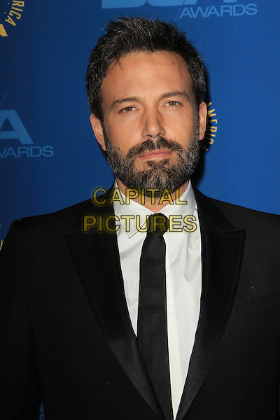 Ben Affleck.65th Annual Directors Guild Of America Awards - Arrivals - Press Room Held At The Ray Dolby Ballroom at Hollywood & Highland Center, Hollywood, California, USA..February 2nd, 2013.headshot portrait suit black white shirt beard facial hair .CAP/ADM/KB.©Kevan Brooks/AdMedia/Capital Pictures.