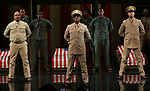 """David Alan Grier, Blair Underwood and Jerry O'Connell and cast During the Broadway Opening Night Curtain Call Bows for The Roundabout Theatre Company's """"A Soldier's Play""""  at the American Airlines Theatre on January 21, 2020 in New York City."""