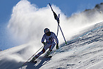 Alpine Ski World Cup Opening. Gino Caviezel in action at the Men's Giant Slalom in Solden on October 23, 2016. French Alexis Pinturault is leading ahead of Austrian Marcel Hirscher's after the first run.