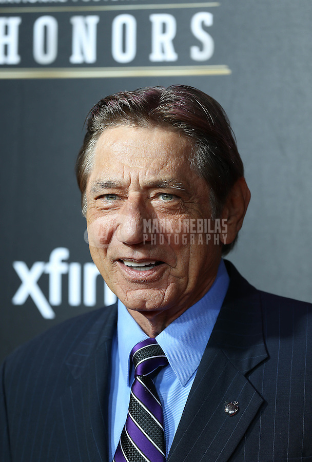 Feb. 2, 2013; New Orleans, LA, USA: New York Jets former quarterback Joe Namath walks the red carpet prior to the Super Bowl XLVII NFL Honors award show at Mahalia Jackson Theater. Mandatory Credit: Mark J. Rebilas-USA TODAY Sports
