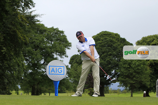 Damien Moran (Tubbercurry) on the 1st tee during the AIG Jimmy Bruen Shield Semi-Finals of the AIG Connacht Cups &amp; Shields Finals 2016 at Ballinrobe Golf Club, Ballinrobe Co. Mayo on Friday 5th August 2016.<br /> Picture:  Golffile | Thos Caffrey<br /> <br /> All photos usage must carry mandatory copyright credit   (&copy; Golffile | Thos Caffrey)
