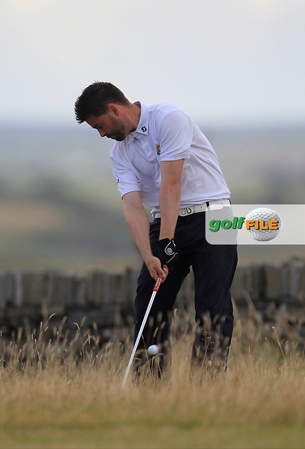Sean Ryan (The Royal Tara) on the 17th during the South of Ireland Amateur Open Championship 5th Round at Lahinch Golf Club  30th July 2013 <br /> Picture:  Thos Caffrey / www.golffile.ie