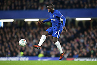 N'Golo Kante of Chelsea in action during Chelsea vs Arsenal, Caraboa Cup Football at Stamford Bridge on 10th January 2018