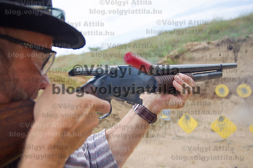 Cowboy Action Shooting European Championship in Dabas, Hungary on August 11, 2012. ATTILA VOLGYI