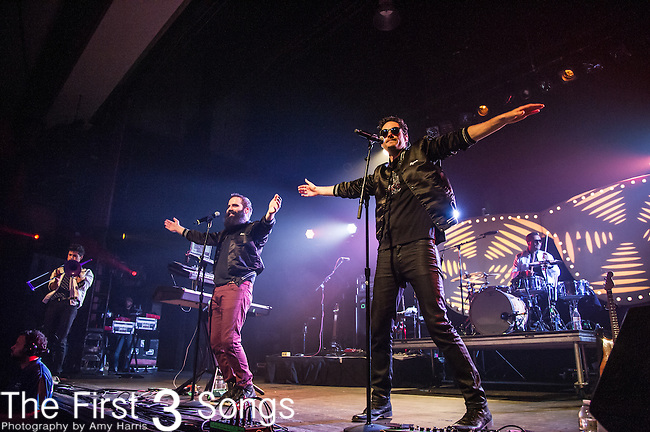 Ryan Merchant and Sebu Simonian of Capital Cities performs at Old National Centre in Indianapolis, Indiana.