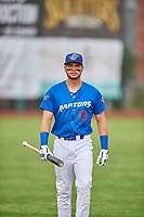 Marco Hernandez (13) of the Ogden Raptors before the game against the Grand Junction Rockies at Lindquist Field on June 17, 2019 in Ogden, Utah. The Rockies defeated the Raptors 9-0. (Stephen Smith/Four Seam Images)