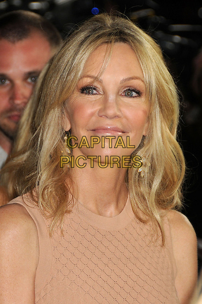 "Heather Locklear.Attending the ""Scary Movie 5"" Los Angeles film premiere held at the Cinerama Dome,  Hollywood, California, USA, .11th April 2013..portrait headshot nude beige sleeveless .CAP/ADM/BP.©Byron Purvis/AdMedia/Capital Pictures"
