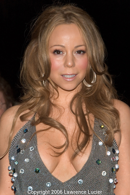 "Recording artist Mariah Carey arrives at Def Jam Music Group chairman Antonio ""LA"" Reid's 50th birthday party June 10, 2006, at Nobu 57 in New York City. (Pictured : Mariah Carey)."