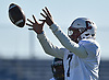 Anthony Caputo #7 of Conference I/IV (Clarke) takes a snap during the Nassau County Senior Bowl against Conference II/III at Mitchel Athletic Complex in Uniondale on Thursday, Nov. 22, 2018.
