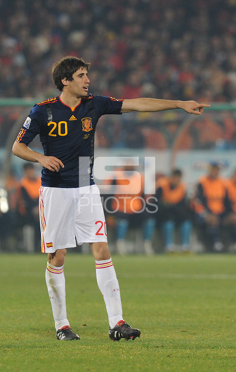 Second-half substitute Javier Martinez. Second-half substitute Javier Martinez. Spain won Group H following a 2-1 defeat of Chile in Pretoria's Loftus Versfeld Stadium, Friday, June 25th, at the 2010 FIFA World Cup in South Africa..