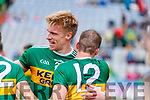 Tommy Walsh, and Stephen O'Brien, Kerry celebrate after the All Ireland Senior Football Semi Final between Kerry and Tyrone at Croke Park, Dublin on Sunday.
