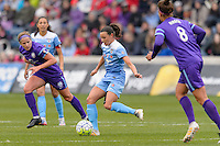 Bridgeview, IL, USA - Sunday, May 1, 2016: Chicago Red Stars midfielder Vanessa DiBernardo (10) during a regular season National Women's Soccer League match between the Chicago Red Stars and the Orlando Pride at Toyota Park. Chicago won 1-0.