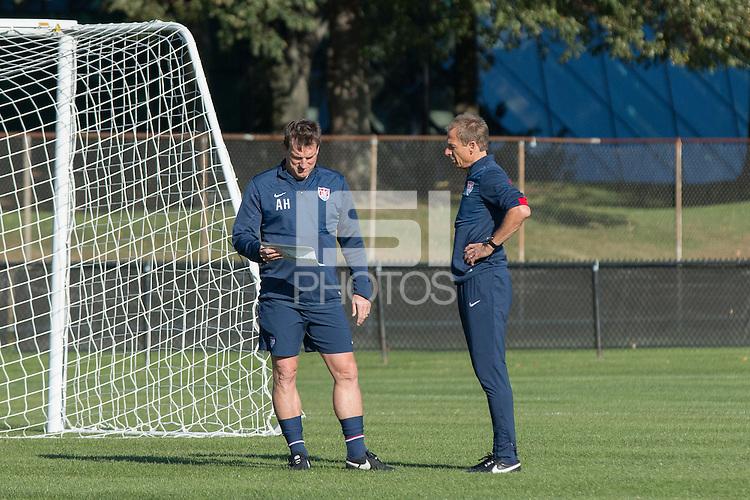 Boston, Mass. - October 8, 2014: The U.S. Men's National Team train at Harvard's, Ohiri Field in preparation for their upcoming match vs Ecuador.