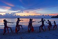 Traditional Palau dance, tribal and culture