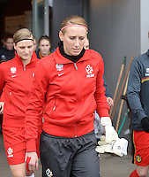 20140208 - OOSTAKKER , BELGIUM : Polish goalkeeper Katarzyna Kiedrzynek pictured during a friendly soccer match between the women teams of Belgium and Poland , Saturday 8 February 2014 in Oostakker. PHOTO DAVID CATRY