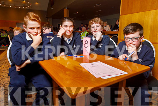 Spa NS students Aaron Harty, Anna O'Sullivan, Rae Moriarty and Marc O'Connor at the Regional finals of the Chapter 23 Credit Union quiz in the Ballyroe Heights Hotel on Sunday