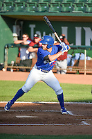 Matthew Beaty (35) of the Ogden Raptors at bat against the Idaho Falls Chukars in Pioneer League action at Lindquist Field on June 22, 2015 in Ogden, Utah. The Chukars defeated the Raptors 4-3 in 11 innings. (Stephen Smith/Four Seam Images)