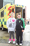 Jessica Lambe with Brendan Thomas Burke at the St.Johns Ambulance demonstration at Scotch Hall...Picture Jenny Matthews/Newsfile.ie