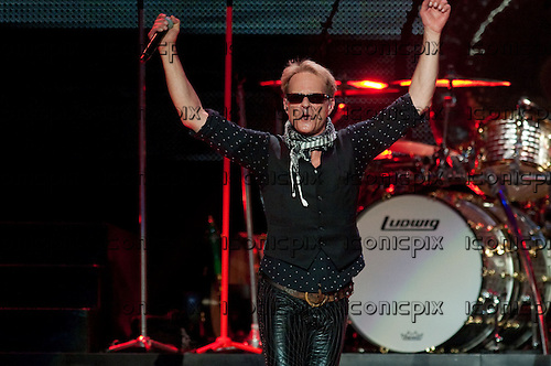 VAN HALEN- vocalist David Lee Roth performing live at The Staples Center in Los Angeles, CA USA - June 1, 2012.  Photo © Kevin Estrada/ Iconicpix