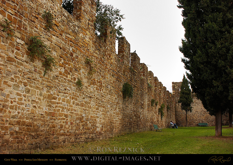 13th c City Walls Porta San Miniato Florence