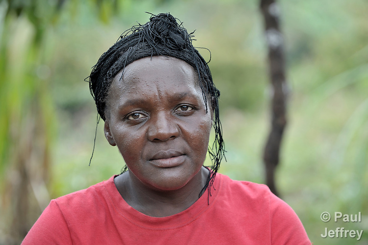 A woman in the Haitian village of Foret des Pins.