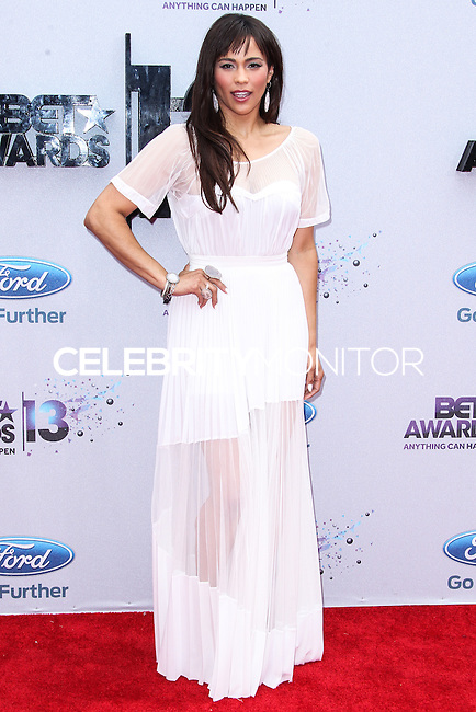 LOS ANGELES, CA - JUNE 30: Paula Patton attends the 2013 BET Awards at Nokia Theatre L.A. Live on June 30, 2013 in Los Angeles, California. (Photo by Celebrity Monitor)