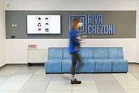 Emergenza Coronavirus - fase due - ATB Group uno schermo illustra le misure anti Covid Roncadelle 08/06/2020<br /> <br /> Coronavirus emergency - phase two - ATB Group employees on the screen the misures against Covid Roncadelle 08/06/2020