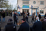 Manchester City 4, Tottenham Hotspur 3, 17/04/2019. Etihad Stadium, Champions League. A programme seller outside the Etihad Stadium before Manchester City played Tottenham Hotspur in a Champions League quarter final, second league. The first leg was played the previous week at Spurs' new stadium which they won 1-0. The second lead resulted in a 4-3 win for City however Tottenham progressed to the semi-finals against Ajax on the away goal rule as the teams finished 4-4 on aggregate. Photo by Colin McPherson.