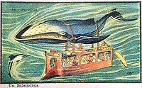 BNPS.co.uk (01202 558833)<br /> Pic:  Hansons/BNPS<br /> <br /> It never caught on...a whale pulling a coach underwater.<br /> <br /> A remarkable set of drawings which were produced in 1899 to predict the future have come to light - and some of the ideas are plain wacky.<br /> <br /> Their outlandish vision of the world in 2000 includes flying cars, whales pulling coaches and games of croquet under the sea.<br /> <br /> The illustrations were produced by a group of French artists for a Paris exhibition entitled 'En L'An 2000'. (In the year 2000)<br /> <br /> They did not foresee a man on the moon or the first computer, but predicted people would be playing tennis with bat wings.
