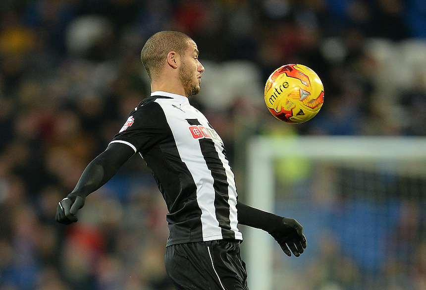 Watford's Adlene Guedioura brings the ball under control<br /> <br /> Photographer Ian Cook/CameraSport<br /> <br /> Football - The Football League Sky Bet Championship - Cardiff City v Watford - Saturday 28th December - Cardiff City Stadium - Cardiff<br /> <br /> &copy; CameraSport - 43 Linden Ave. Countesthorpe. Leicester. England. LE8 5PG - Tel: +44 (0) 116 277 4147 - admin@camerasport.com - www.camerasport.com