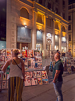 Stra&szlig;enk&uuml;nstler, Fu&szlig;g&auml;ngerzone Knez Mihailova -Prinz-Michael-Stra&szlig;e, Belgrad, Serbien, Europa<br /> Streetartist, pedestrian area Knez Mihailova, Belgrade, Serbia, Europe