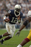 27 September 2003: Michael Robinson (12), Penn State QB, runs for a big gain.  Minnesota defeated Penn State 20-14  at Beaver Stadium in State College, PA..Mandatory Credit: Randy Litzinger..