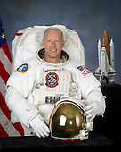 """Houston, TX - (FILE) -- Photo dated August 19, 2005 of Astronaut Patrick G. Forrester, mission specialist, STS-128.  Commander Rick Sturckow will lead the STS-128 mission to the International Space Station aboard space shuttle Discovery with Kevin Ford serving as pilot.  It is scheduled for launch on August 25, 2009.  Also serving aboard Discovery are mission specialists Patrick Forrester, José Hernández, John """"Danny"""" Olivas, Christer Fuglesang and Nicole Stott. Stott will remain on the station as an Expedition 20 flight engineer replacing Timothy Kopra. Kopra will return home aboard Discovery as a mission specialist. Discovery is carrying the Leonardo Multi-Purpose Logistics Module containing life support racks and science racks. The Lightweight Multi-Purpose Experiment Support Structure Carrier will also be launched in Discovery's payload bay. This is Discovery's 37th mission to space and the 30th mission of a space shuttle dedicated to the assembly and maintenance of the International Space Station. .Credit: NASA via CNP"""