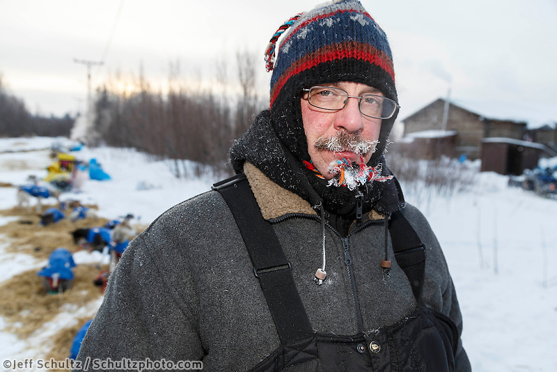 Alan Eischens portrait on the banks of the Yukon river at the Tanana checkpoint on Wednesday morning  March 11th during the 2015 Iditarod.<br /> <br /> (C) Jeff Schultz/SchultzPhoto.com - ALL RIGHTS RESERVED<br />  DUPLICATION  PROHIBITED  WITHOUT  PERMISSION