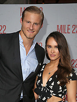 9 August 2018-  Westwood, California - Kristy Dawn Dinsmore, Alexander Ludwig. Premiere Of STX Films' &quot;Mile 22&quot; held at The Regency Village Theatre. <br /> CAP/MPIFS<br /> &copy;MPIFS/Capital Pictures